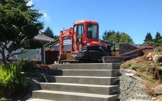 Mini Excavator Service in Qualicum Beach.